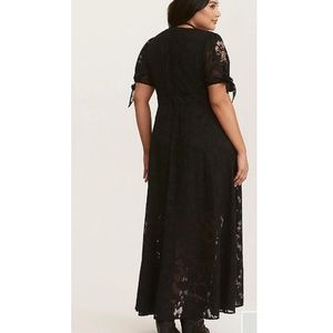 c1906c5cda0d torrid Dresses - Torrid FLORAL EMBROIDERED Chiffon maxi dress plus
